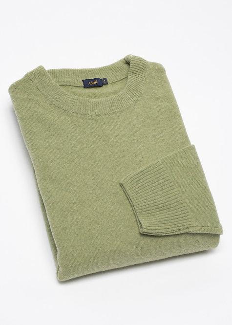 Мъжки пуловер вълна светло зелен