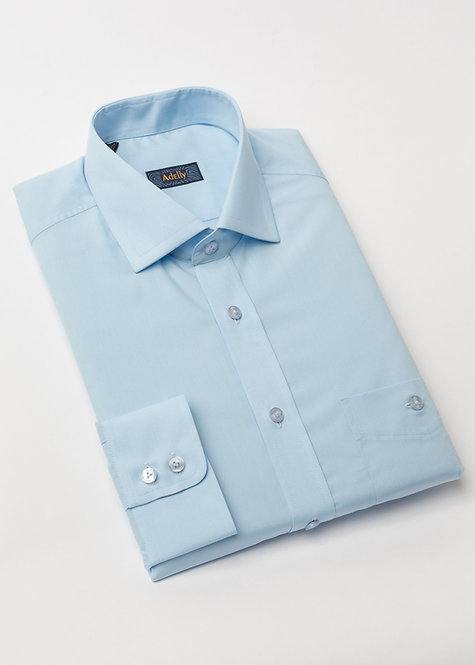 Риза с дълъг ръкав светло синя