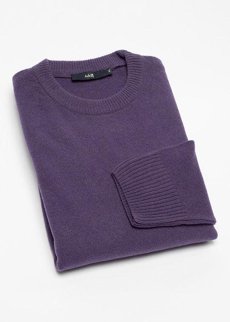 Мъжки пуловер вълна лилав