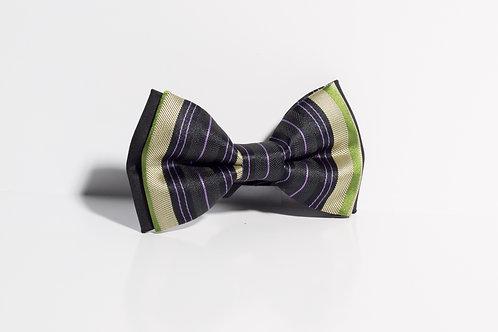 Папийонка черно, зелено, лилаво