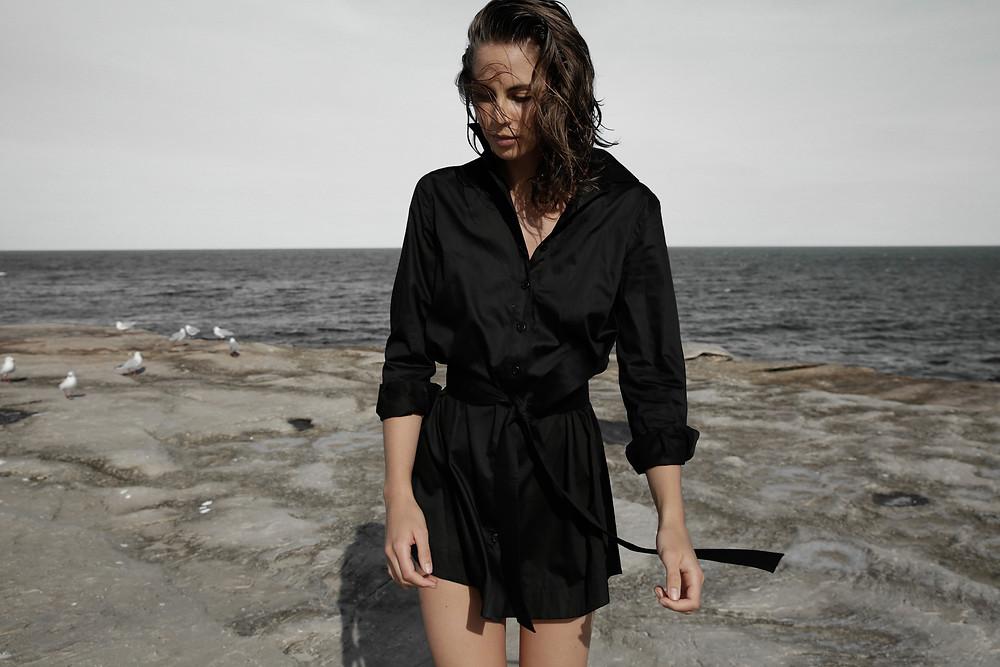 Hannah in 25ATW Olivia Shirt Dress
