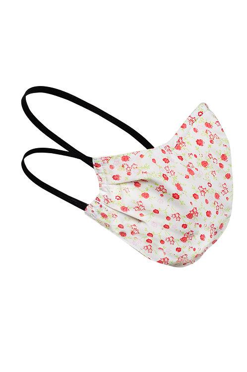 Детска предапазна маска за многократна употреба червени цветя