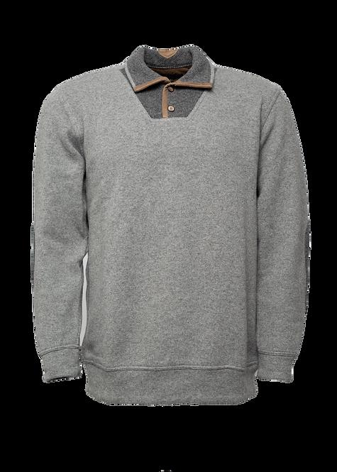 Мъжки пуловер вълна с яка сив