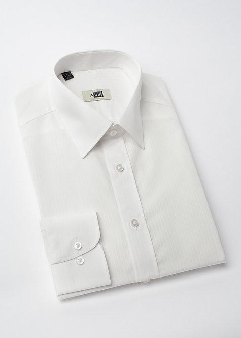 Риза с дълъг ръкав бяла с дискретно райе