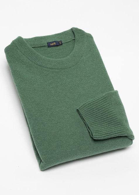 Мъжки пуловер вълна тъмно зелен