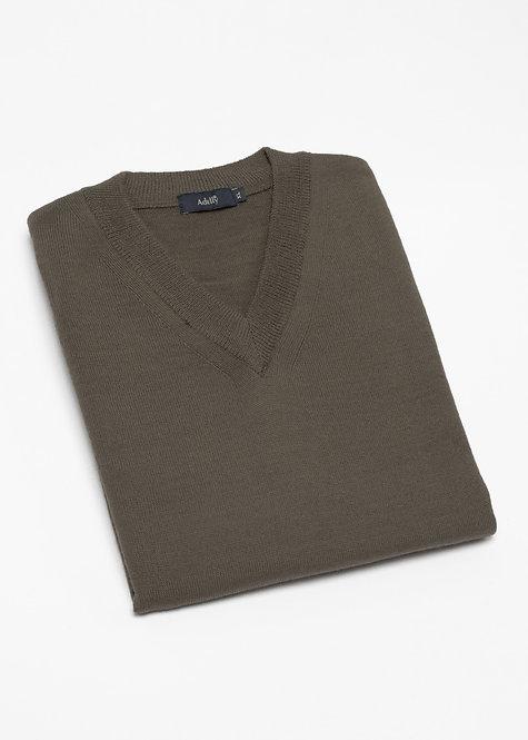 Мъжки пуловер без ръкав зелен