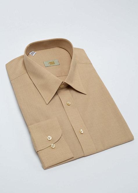 Риза с дълъг ръкав бежово