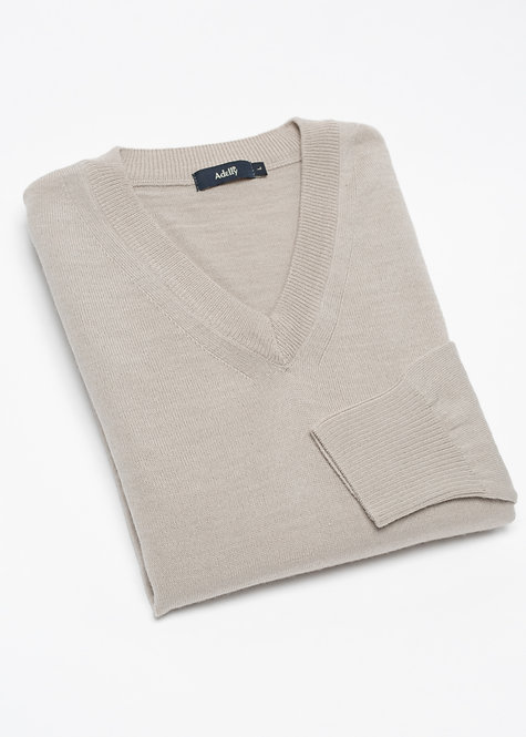 Мъжки пуловер бежов