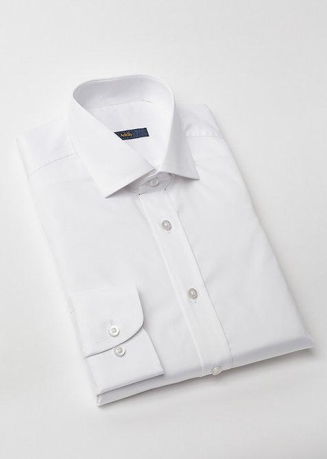 Риза с дълъг ръкав бяла