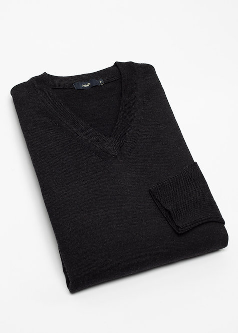 Мъжки пуловер тъмен графит