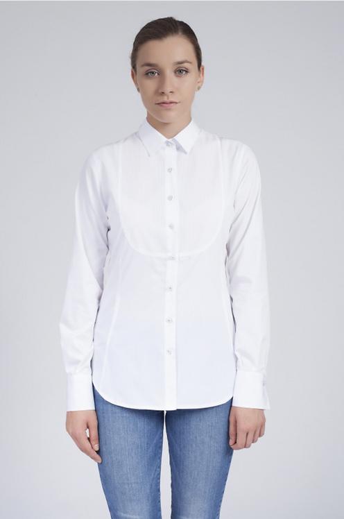 Дамска туксидо риза бяла
