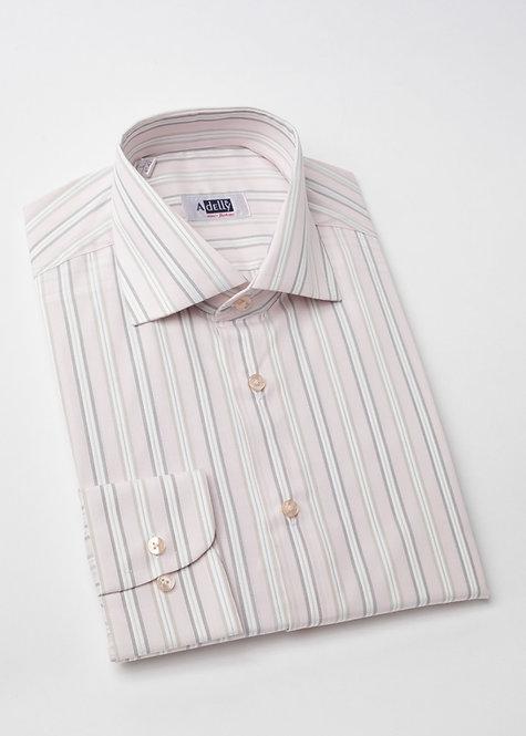 Риза с дълъг ръкав  в бледо розово с дискретно райе