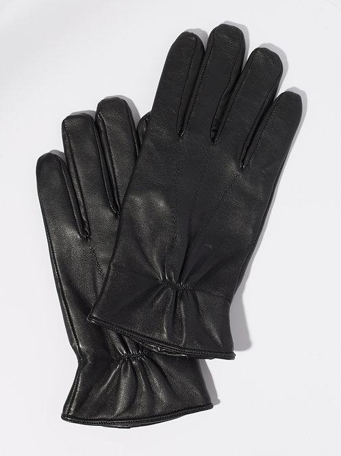 Мъжки ръкавици- черни естествена кожа