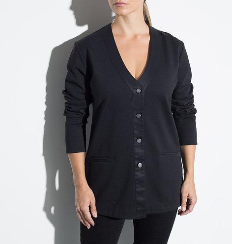 Трикотажна дамска жилетка черна