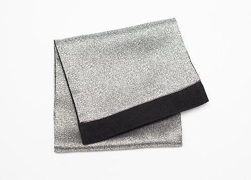 Двулицев шал сив   сребърен