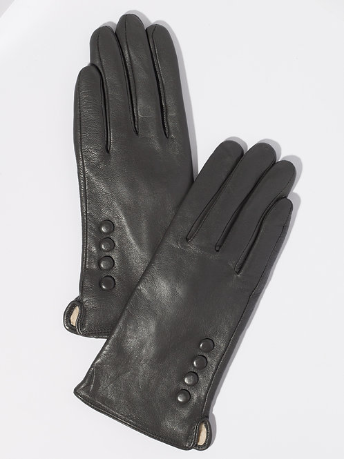 Дамски ръкавици-графит естествена кожа