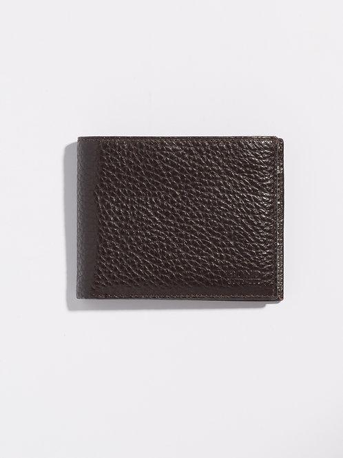 Кожен портфейл тъмно кафяв