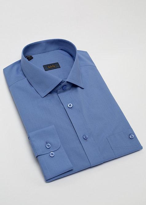 Риза с дълъг ръкав  синьо