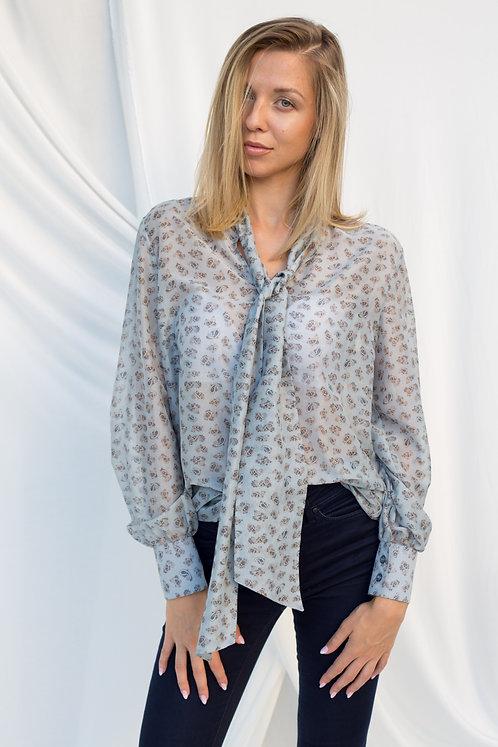 Дамска блуза pussybow с пейсли