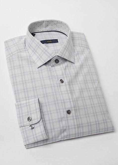 Риза с дълъг ръкав сиво каре