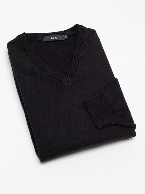 Мъжки пуловер черен