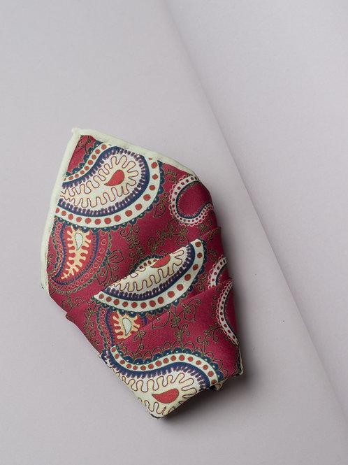 Копринена кърпичка червена на пейсли