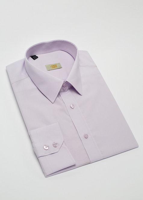 Риза с дълъг ръкав бледо лилава