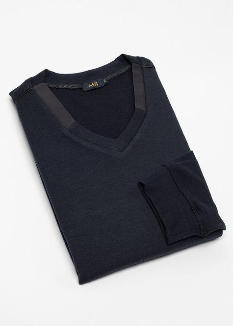 Мъжки пуловер тъмно син