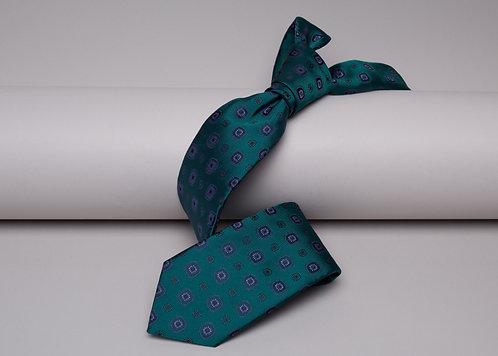 Копринена вратовръзка зелена