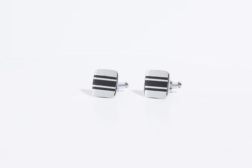 Копчета за ръкавели черно и сребро 1.2