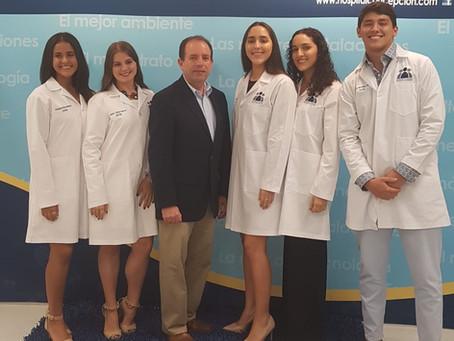 Distinguidos Knights participan en el Programa Experiencia Médica del Hospital La Concepción
