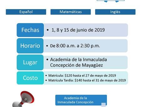 Matrícula abierta para Repasos del College Board de junio 2019.