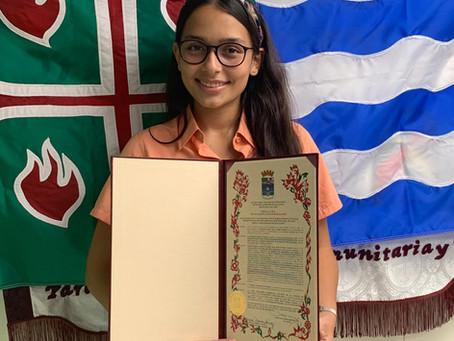 Ciudad de Mayagüez otorga proclama a estudiante de la AIC