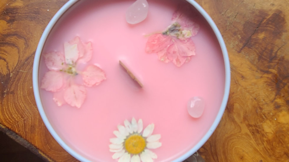 Reiki infused Self love botanical candle