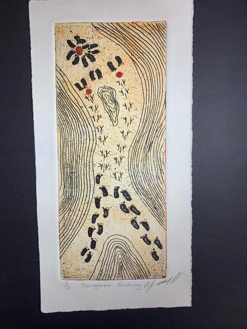 Black Ant Art - Allan Mansell -Kangaroo Hunting