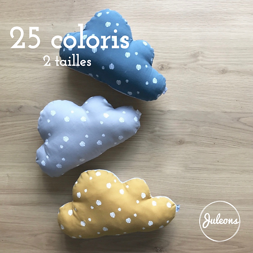 Coussin nuage - 2 tailles - 25 Coloris