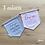Thumbnail: Fanion de naissance personnalisable - 3 Coloris