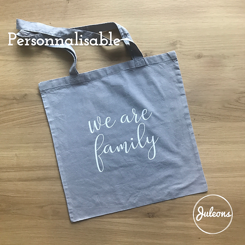 Tote bag gris - Personnalisable