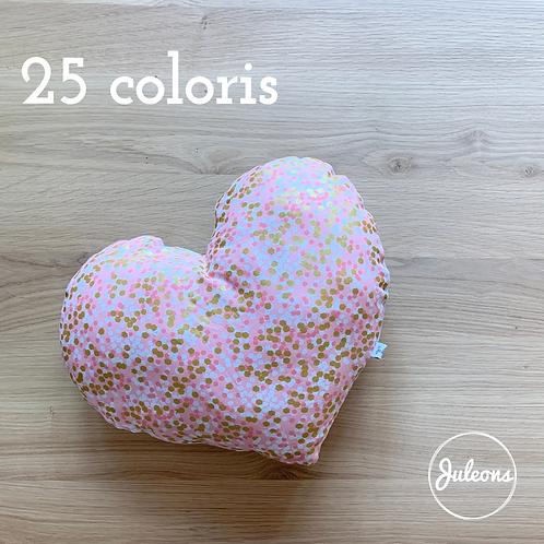 Coussin coeur - 25 Coloris