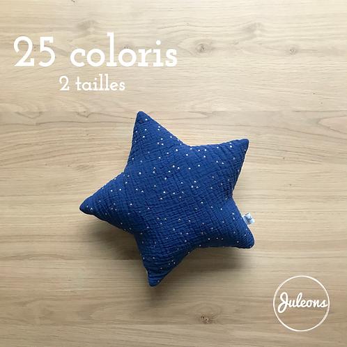 Coussin étoile - 2 tailles - 25 Coloris