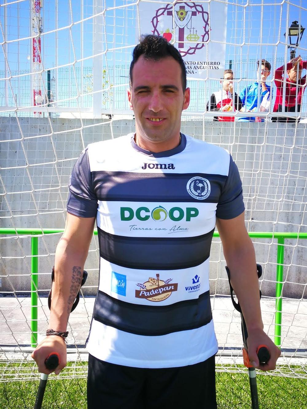 Manolo Rojano, jugador cordobés del CD Flamencos Amputados Sur