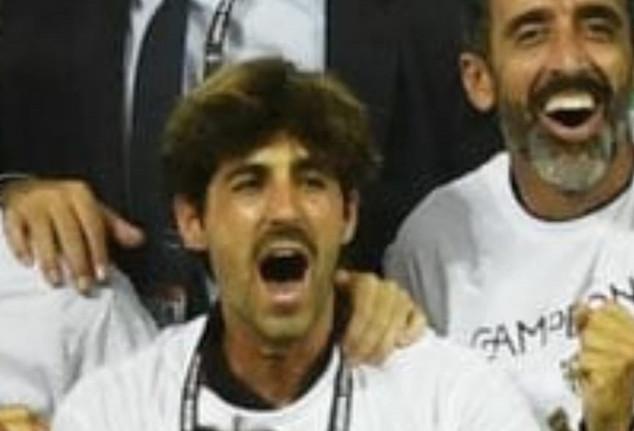 El menciano Muñoz Barba campeón de Europa League con el Sevilla.F.C.