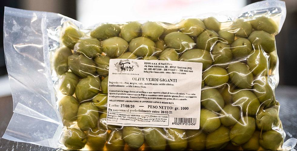Oliven Verdi Giganti al naturale Italien 1kg