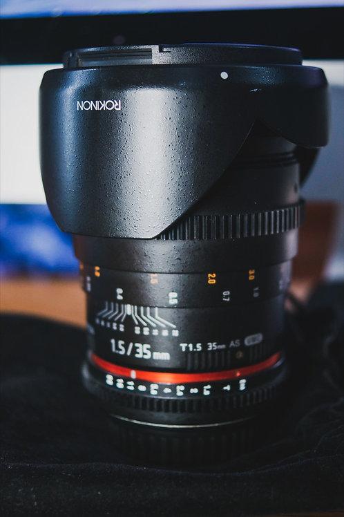 Rokinon 35mm Cine Lent, T 1.5 UMC Canon EF