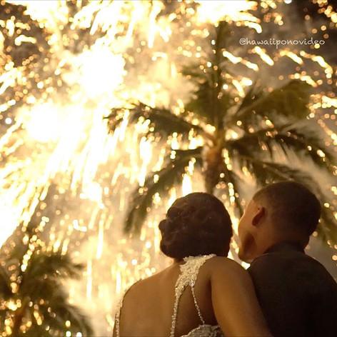 Fireworks + Wedding day