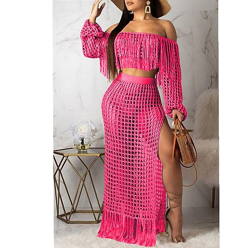 Lace Two piece skirt set