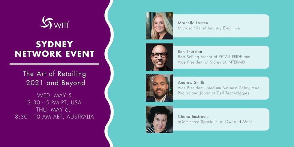 Live from Sydney Australia! The Art of Retailing 2021 and Beyond