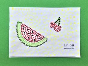 Summer Fruit Dot Painting