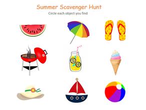 Summer Scavenger Hunt