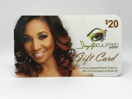 BROW SCULPTING GIFT CARD